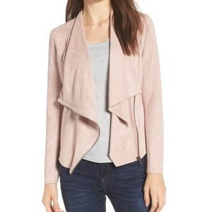 BLANK NYC Pink Drape Front Faux Suede Jacket Sz XL